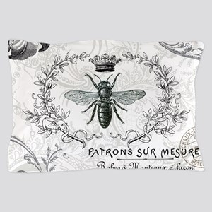 Vintage french shabby chic queen bee collage Pillo