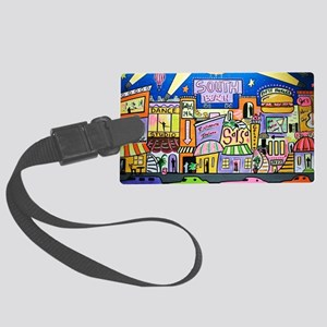 Design #32 SOuth Beach Miami Nightlife Luggage Tag