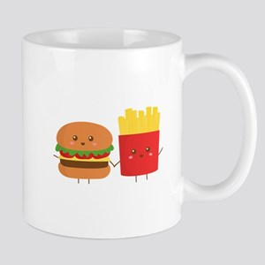 Kawaii Burger and Fries are best pals Mug