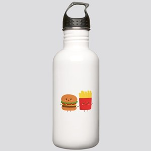 Kawaii Burger and Fries are best pals Water Bottle
