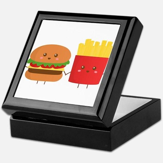 Kawaii Burger and Fries are best pals Keepsake Box