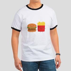 Kawaii Burger and Fries are best pals T-Shirt