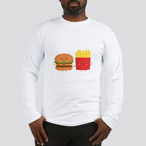 Kawaii Burger and Fries are best pals Long Sleeve