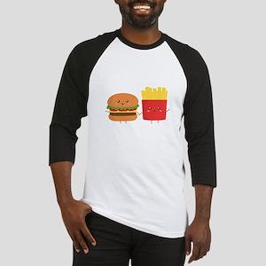 Kawaii Burger and Fries are best pals Baseball Jer