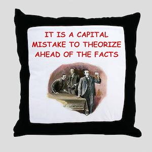 sherlock holmes quote Throw Pillow