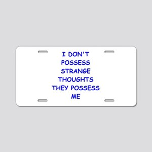 THOUGHTS Aluminum License Plate