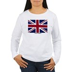 Union Jack Flag Women's Long Sleeve T-Shirt
