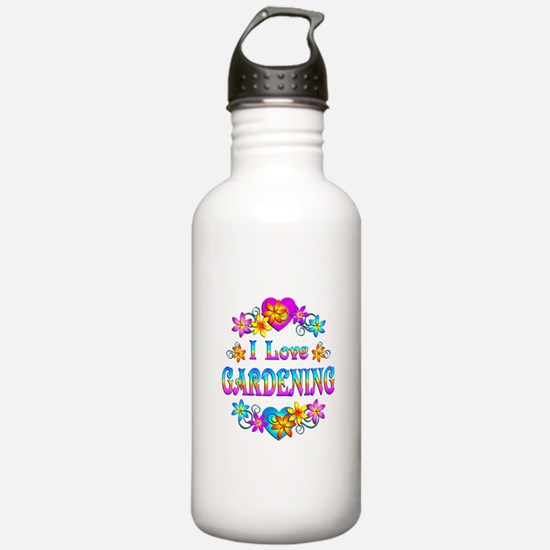 I Love Gardening Water Bottle