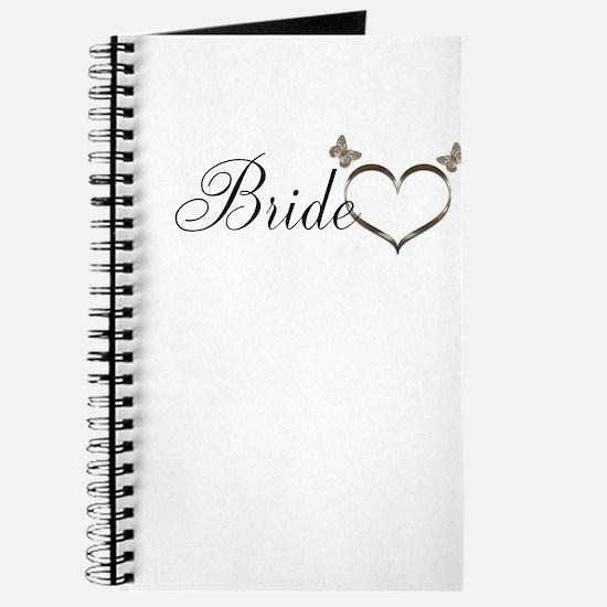 Pretty Bride Heart Butterflies design Journal
