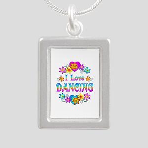 I Love Dancing Silver Portrait Necklace