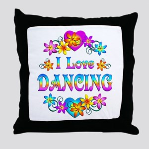 I Love Dancing Throw Pillow