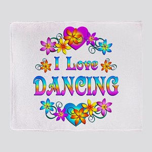 I Love Dancing Throw Blanket