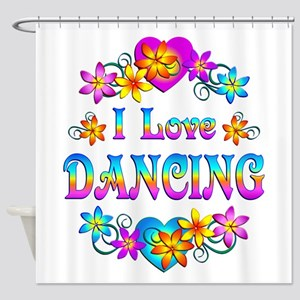 I Love Dancing Shower Curtain