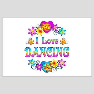 I Love Dancing Large Poster