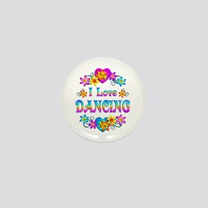 I Love Dancing Mini Button