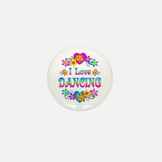 I Love Dancing Mini Button (10 pack)