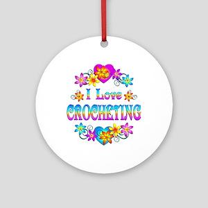 I Love Crocheting Ornament (Round)