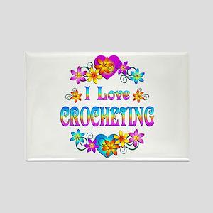 I Love Crocheting Rectangle Magnet