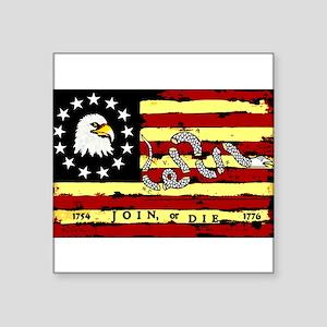 """American Revolutionary Flag"" Sticker"