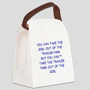 trailer park Canvas Lunch Bag