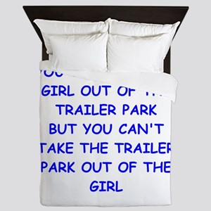 trailer park Queen Duvet