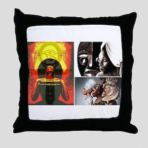 Strong African Women Throw Pillow