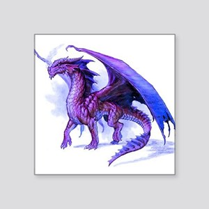 "Purple Dragon Square Sticker 3"" x 3"""