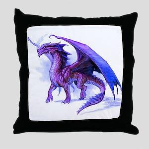 Purple Dragon Throw Pillow
