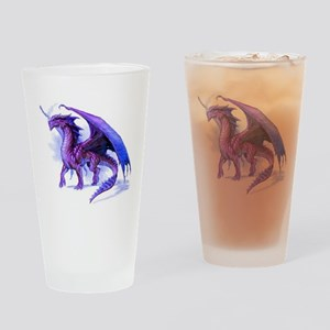 Purple Dragon Drinking Glass