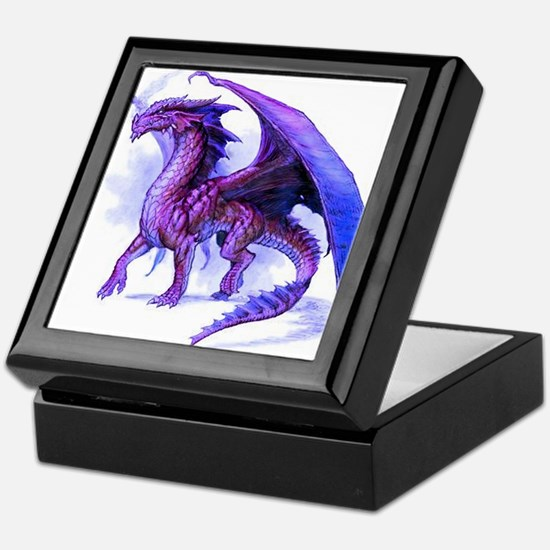 Purple Dragon Keepsake Box
