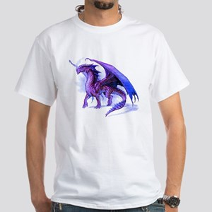 Purple Dragon White T-Shirt