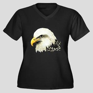Watercolor Bald Eagle Bird Plus Size T-Shirt