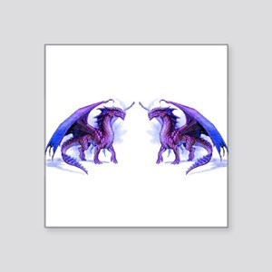 "Purple Dragons Square Sticker 3"" x 3"""