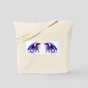 Purple Dragons Tote Bag