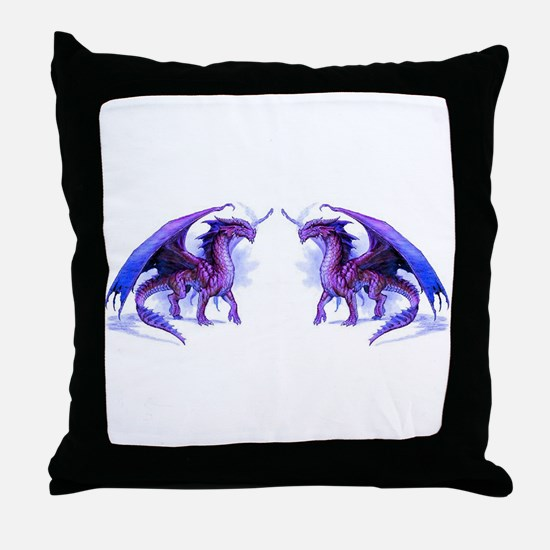 Purple Dragons Throw Pillow