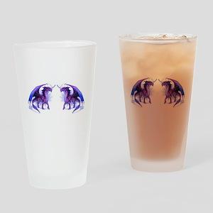 Purple Dragons Drinking Glass
