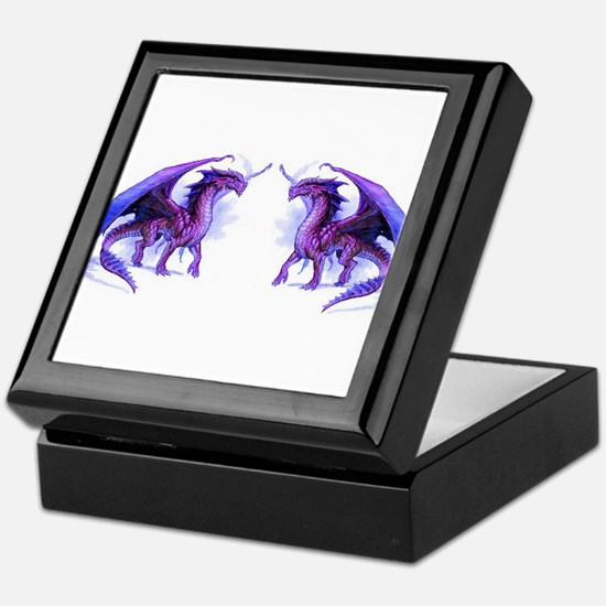 Purple Dragons Keepsake Box