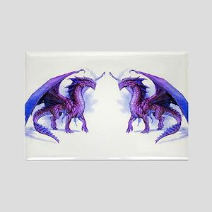 Purple Dragons Rectangle Magnet