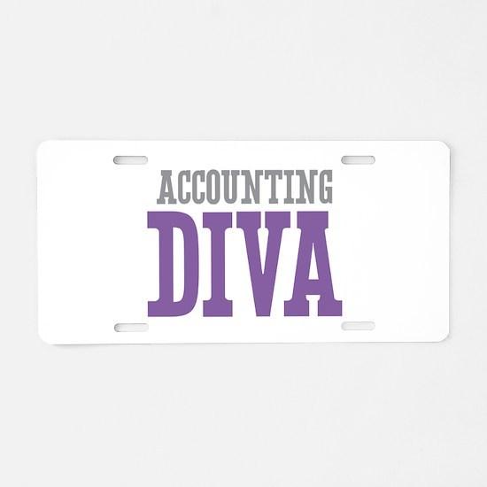 Accounting DIVA Aluminum License Plate