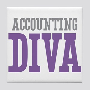 Accounting DIVA Tile Coaster