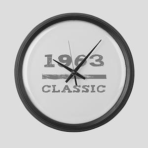 1963 Classic Grunge Large Wall Clock