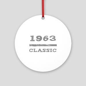 1963 Classic Grunge Ornament (Round)