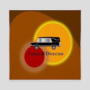 funeral director Abstract Queen Duvet