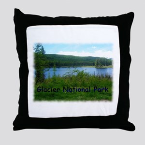 Glacier National Park Throw Pillow