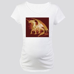 Gold Dragon Maternity T-Shirt