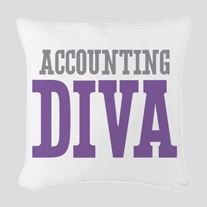 Accounting DIVA Woven Throw Pillow