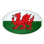 Wales Flag Oval Sticker