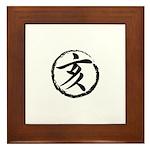 Kanji Wild Boar Framed Tile