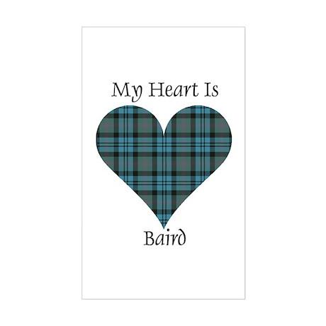 Heart - Baird Sticker (Rectangle)