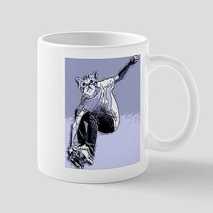 Skating cat Dude Mug